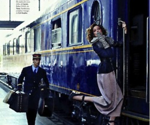 elegance, train, and girl image