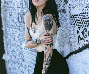 alt girl, Tattoos, and alt model image