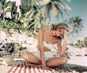 beach, grace kelly, and beauty image