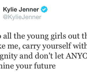 kylie jenner, twitter, and quote image