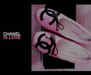 chanel, ballet flats, and pink image