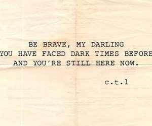 quotes, brave, and life image
