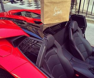 luxury, car, and louboutin image