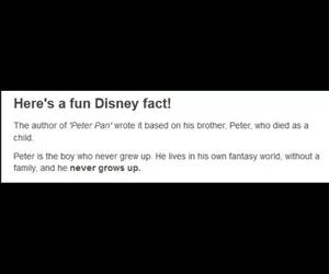 disney, fact, and peter pan image