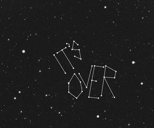 over, stars, and sad image