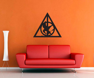deathly hallows, harry potter, and mocking jay image