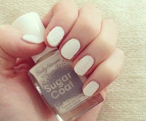 nails, white, and sugar coat image