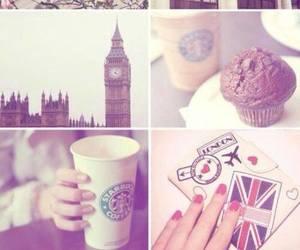 london, starbucks, and Big Ben image
