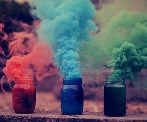 blue, green, and red image