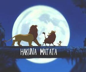 disney, hakuna matata, and simba image