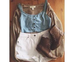 shorts, boots, and outfit image