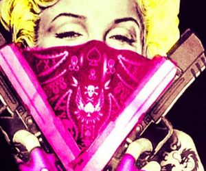 gangster, Marilyn Monroe, and pink image