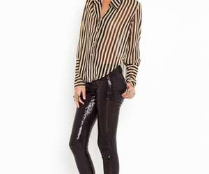 tucked in, vertical stripes, and striped blouse image