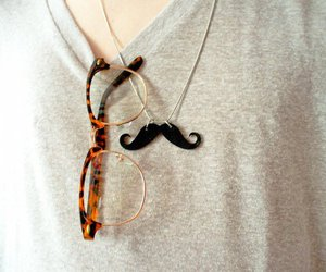 glasses and mustache image