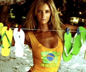 girl, bikini, and brazil image