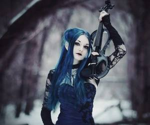 blue and violin image