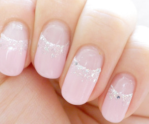 girly, glitter, and nail image