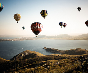 balloons, beautiful, and fly image