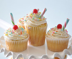 candy, cherry, and cupcake image