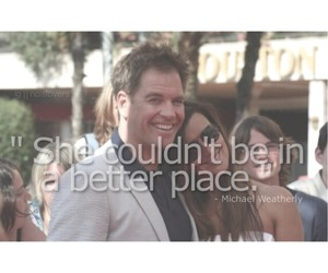 happy, ncis, and michael weatherly image