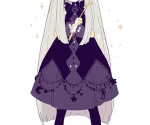 anime girl, magical, and magician image