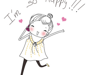 girl, happy, and cute image