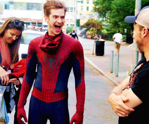 andrew garfield, spiderman, and funny image