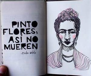 frida kahlo, flores, and Frida image