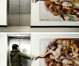 art, elevator, and funny image