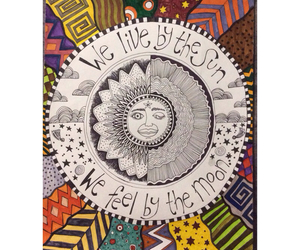 art, hippy, and sun image