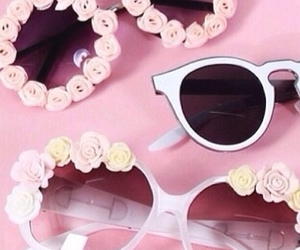 glasses, pink, and rose image