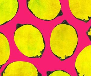 lemon, pink, and wallpaper image
