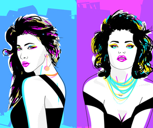 80s, madonna, and pop art image