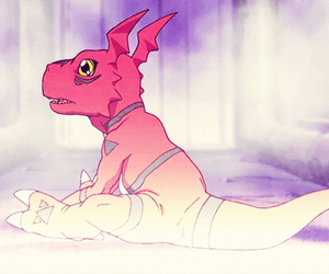 anime, digimon, and guilmon image