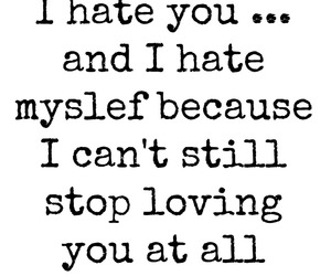 hate, quote, and stupid love image