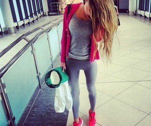 girl, pink, and sport image