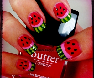 nails, watermelon, and cute image