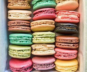 colorful, macarons, and delicious image