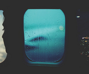 airplane, plane, and rain image