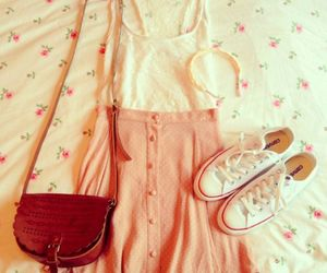 outfit, dress, and girly image