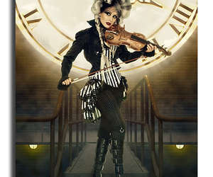 photography, steampunk, and violin image