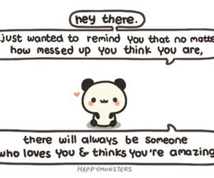 panda and quotes image