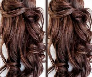 hair, long, and waves image