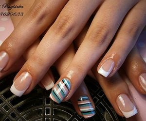 blue, french, and nail image