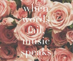 girl, music, and quote image