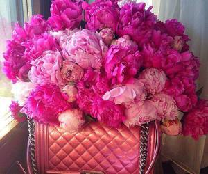flowers, pink, and chanel image