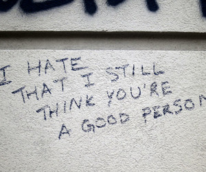 hate, quotes, and sad image