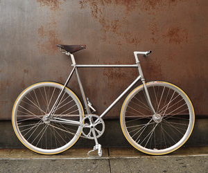 bike, fixed gear, and steel image