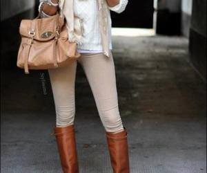 bag, boots, and fashion image