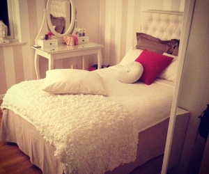 room, bed, and girl image